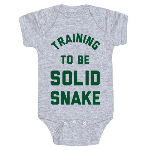 Training To Be Solid Snake Baby Onesy