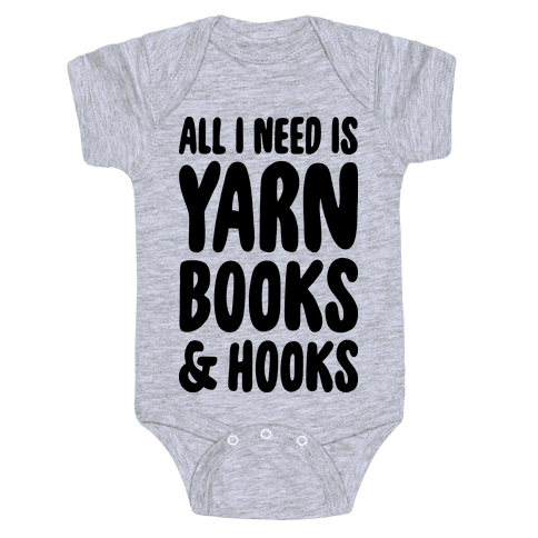 Yarn, Books, And Hooks Baby Onesy