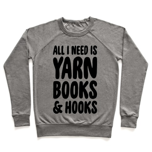 Yarn, Books, And Hooks Pullover