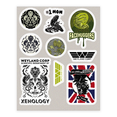 Xenomorph Parody  Sticker/Decal Sheet