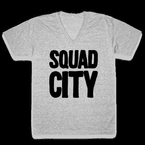 Squad City V-Neck Tee Shirt