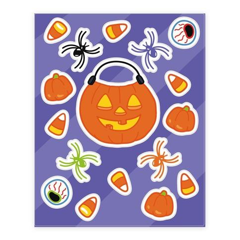 Trick Or Treat Sticker and Decal Sheet