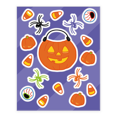 Trick Or Treat  Sticker/Decal Sheet