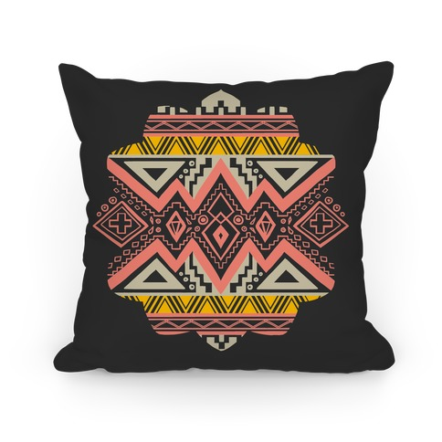 Aztec Mandala Pillow