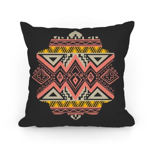 Aztec Mandala Pillow