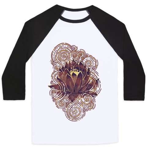 Lotus Flower Baseball Tee
