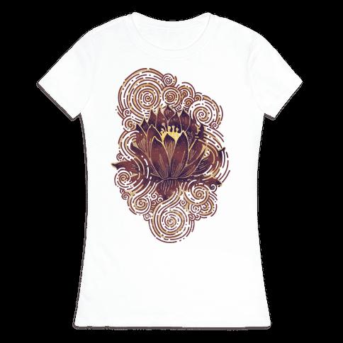 Lotus Flower Womens T-Shirt