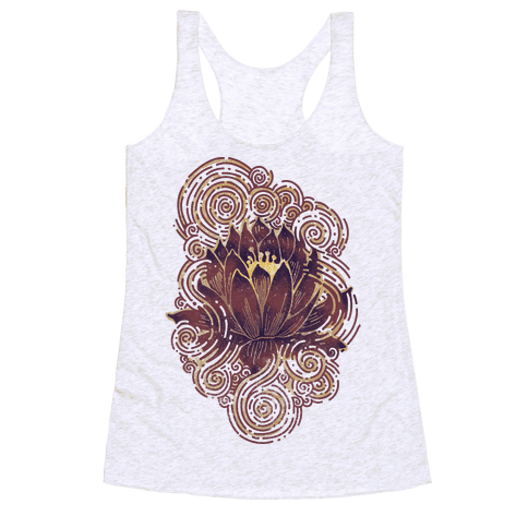 Lotus Flower Racerback Tank Top
