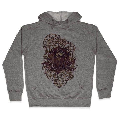 Lotus Flower Hooded Sweatshirt