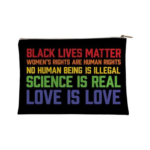 Black Lives Matter List Accessory Bag