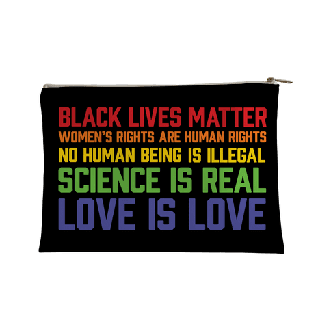 Black Lives Matter List Accessory Bag
