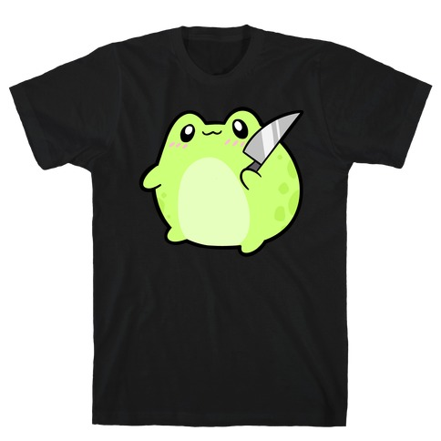 Cute Froggie With A Knife T-Shirt
