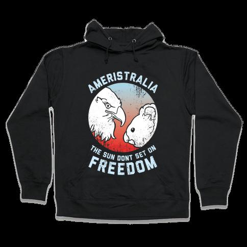 The Sun Dont Set On Freedom (Patriotic Ameristralia) Hooded Sweatshirt
