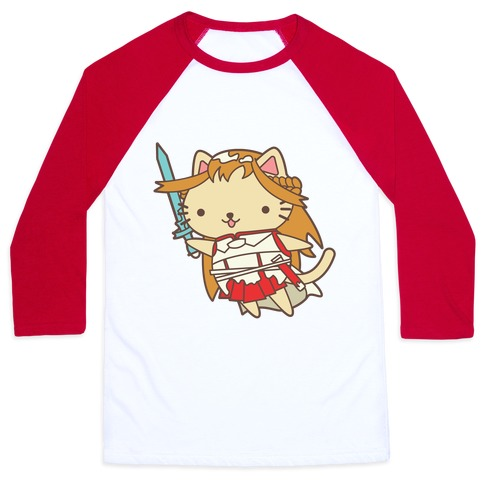 Cat Cosplay Asuna Baseball Tee