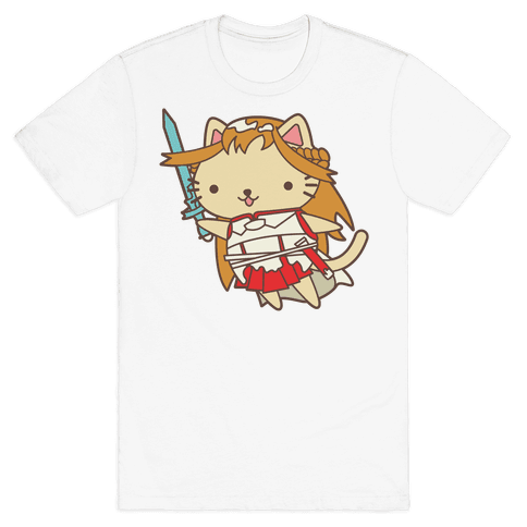 Cat Cosplay Asuna Mens T-Shirt