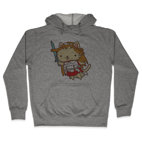 Cat Cosplay Asuna Hooded Sweatshirt