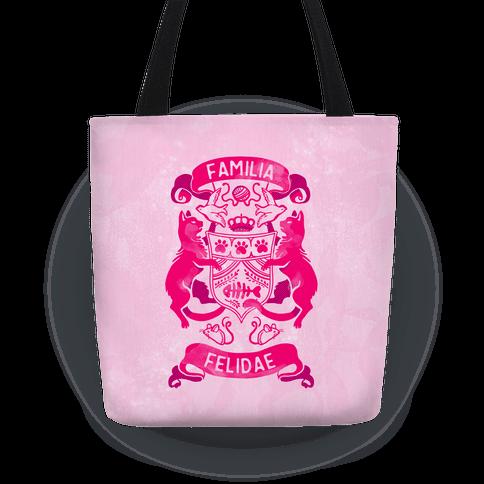 Cat Family Crest: Familia Felidae Tote