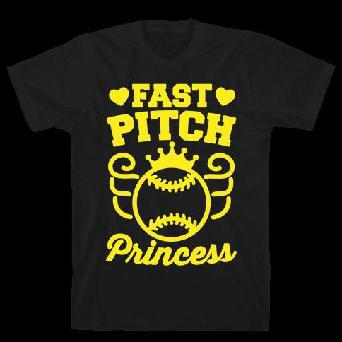 Fast Pitch Princess Mens T-Shirt