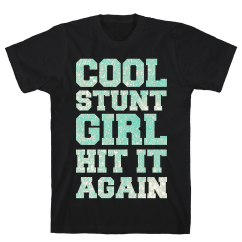 Cool Stunt Girl Mens T-Shirt