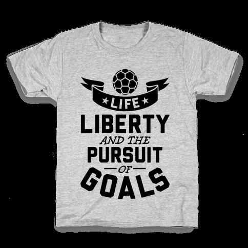 The Pursuit Of Goals Kids T-Shirt