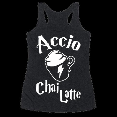 Accio Chai Latte Racerback Tank Top