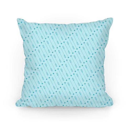 Blue Diagonal Arrow Pattern Pillow