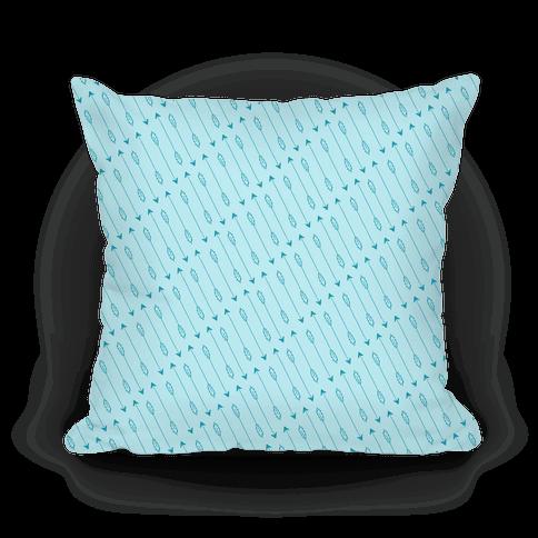 Blue Diagonal Arrow Pattern