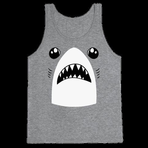Left Shark Face Tank Top