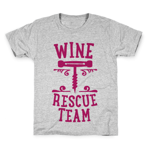 Wine Rescue Team Kids T-Shirt