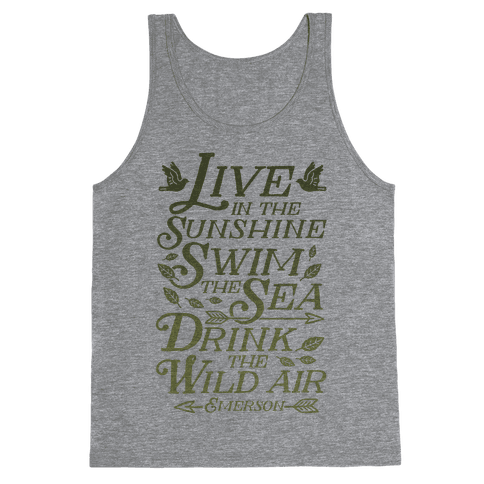 Drink The Wild Air (Ralph Waldo Emerson) Tank Top