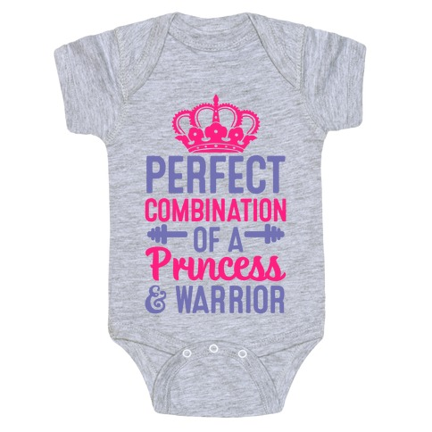 Perfect Combination of a Princess & Warrior Baby Onesy