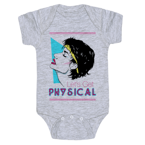 Let's Get Physical Baby Onesy