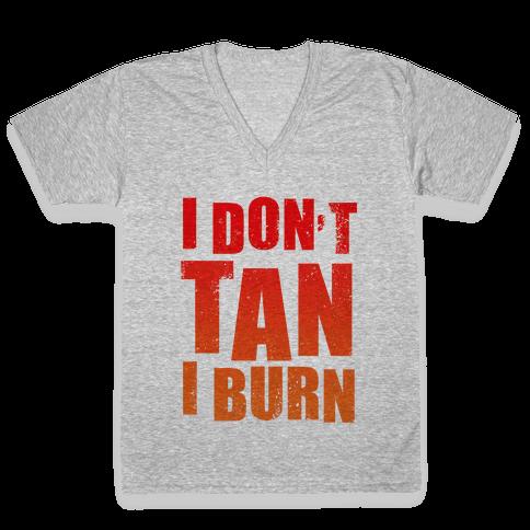 I Don't Tan (Tank) V-Neck Tee Shirt