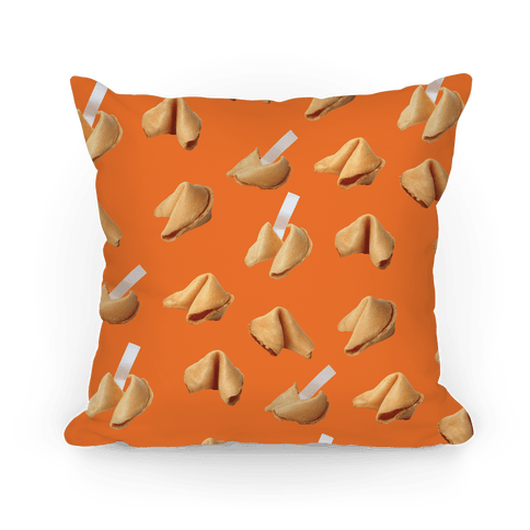 Fortune Cookie Pillow (Orange) Pillow