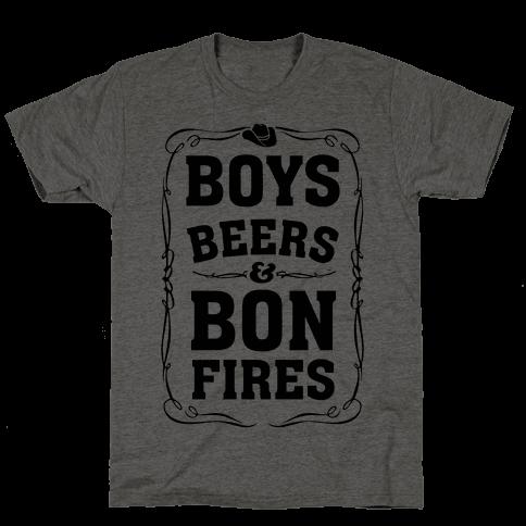 Boys Beers & Bonfires Mens T-Shirt