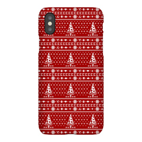 Ugly Pizza Christmas Pattern Phone Case
