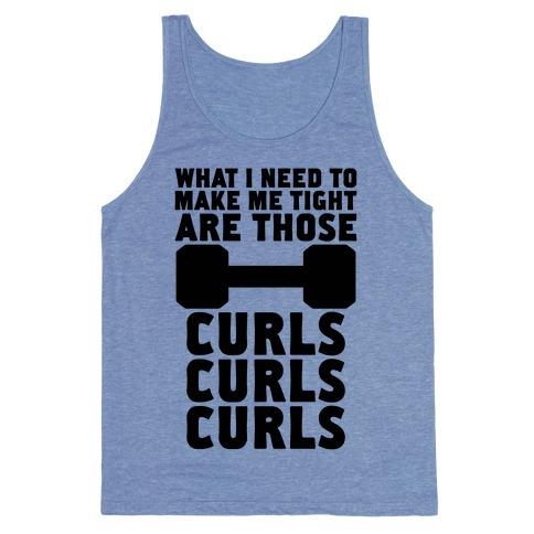 Curls, Curls, Curls Tank Top
