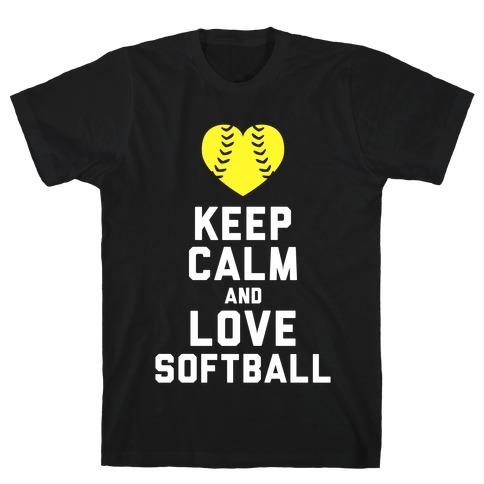 keep calm and love softball tank tshirt lookhuman