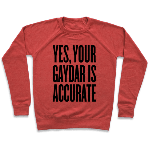 Yes, Your Gaydar Is Accurate Pullover