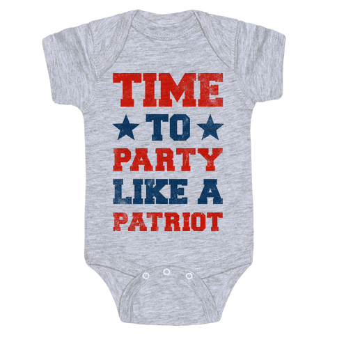 Time to Party Like A Patriot Baby Onesy