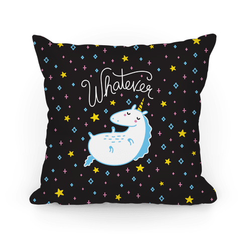 Whatever Unicorn Pillow