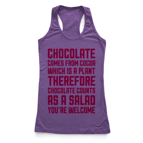 Chocolate Salad Racerback Tank Top