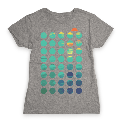 Circles of Summer Womens T-Shirt