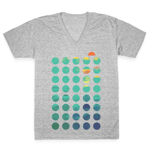 Circles of Summer V-Neck Tee Shirt
