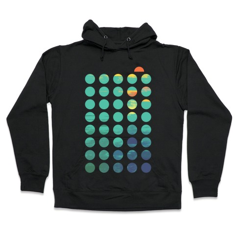 Circles of Summer Hooded Sweatshirt