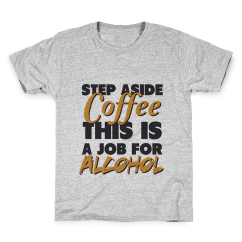 Step Aside Coffee (gold tank) Kids T-Shirt
