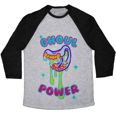 Ghoul Power Baseball Tee