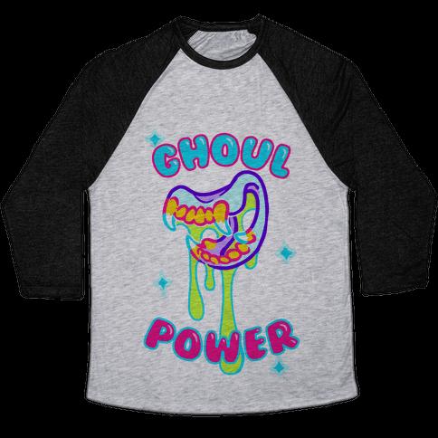 Ghoul Power Baseball Tee