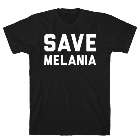 Save Melania White Print Mens T-Shirt