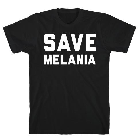 Save Melania White Print T-Shirt